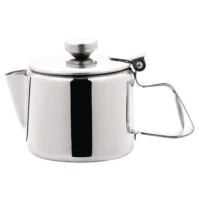 Olympia Concorde Tea Pot 340ml Coffee Cookware Infuser Kitchen Stainless Steel