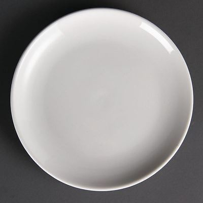 12x Olympia Whiteware Coupe Plates 200mm Serving Tableware Restaurant Crockery