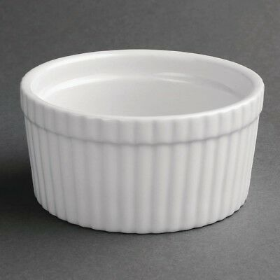 6x Olympia Whiteware Souffle Dishes 105mm Serving Porcelain Bowl Restaurant