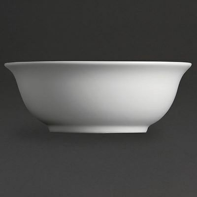 6x Olympia Whiteware Salad Bowls 235mm Kitchen Serving Dishes Tableware