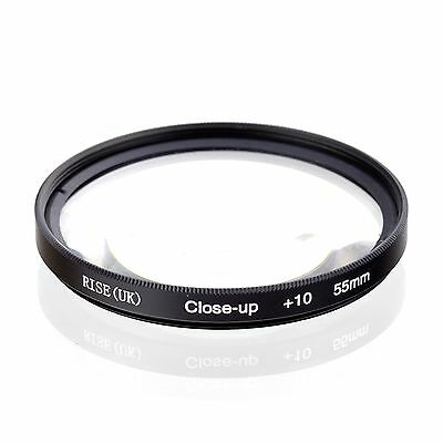 55mm Macro Close-up +10 Lens Filter For Sony Alpha with 18-55mm 55-200mm