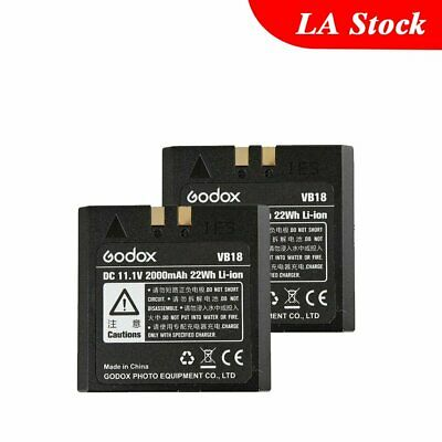 2x Improved Godox VB18 Li-ion Battery for V850 V860 Flash Speedlite Speedflash