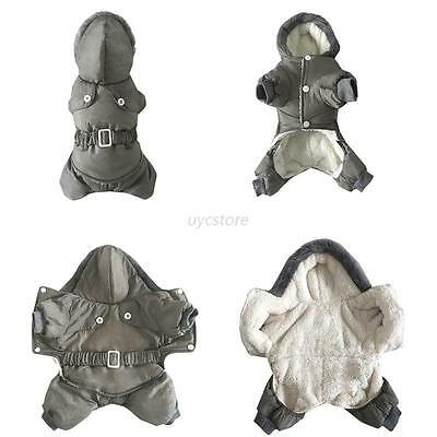 Pet Dog Jacket Cotton Coat Hoodie Hat Winter Warm Apparel Puppy Cat Dogs Clothes