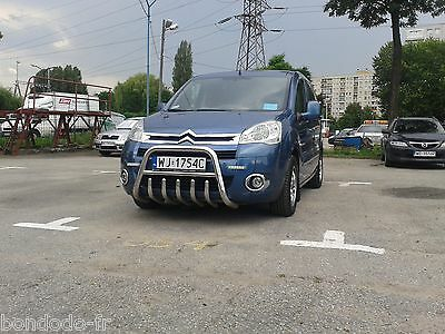 Pare Buffle Citroen Berlingo 2008- Inox Poli Main, Diam 60, Non Homologue