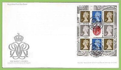 G.B. 2010 The Kings Stamps booklet pane u/a  Royal Mail First Day Cover