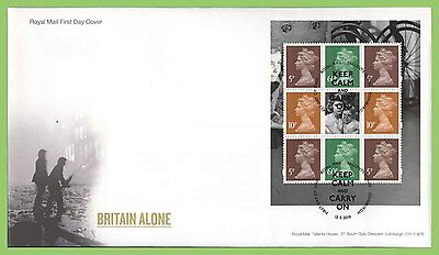 G.B. 2010 Britain Alone booklet pane u/a  Royal Mail First Day Cover, Tallents
