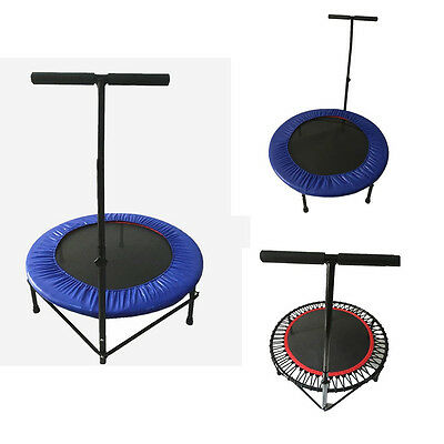 """40"""" Fitness Trampoline Multifunction Mini Rebounder Handle Portable Home Outdoor"""