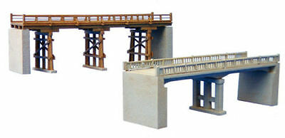 New In Box N Gauge Tomytec Unassembled Wooden and Concrete Bridge Structure Kit