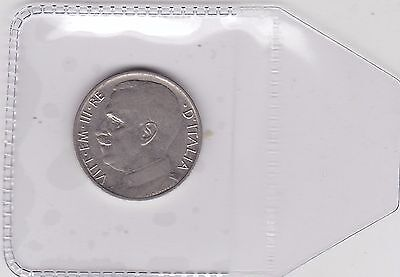 1919 50 Cents From Italy In Extremely Fine Condition Km61.1 Plain Edge