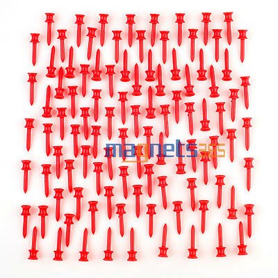 "Rojo Plástico Castle Golf Tees Control Altura 41 mm 1.61 ""Step Down Golf Tees"
