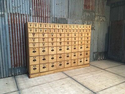 Antique apothecary bank of drawers Shop Counter Chest Of Drawers Haberdashery