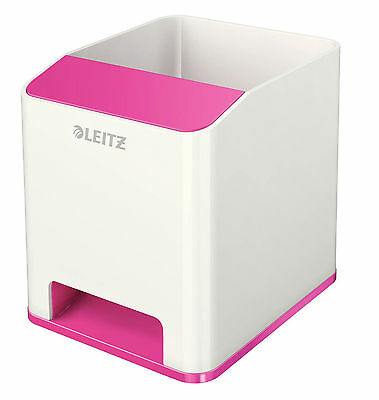 Leitz 5363-10-23 Sound Stifteköcher WOW Duo Colour - pink metallic