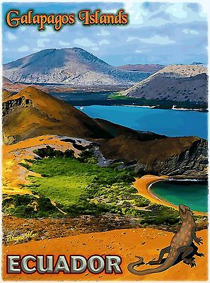 The Galapagos Islands Ecuador South America Travel Advertisement Art Poster
