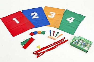 Garden Games Party Sports Day Set Sack Race 3 Legged Race Egg & Spoon Race. Toy