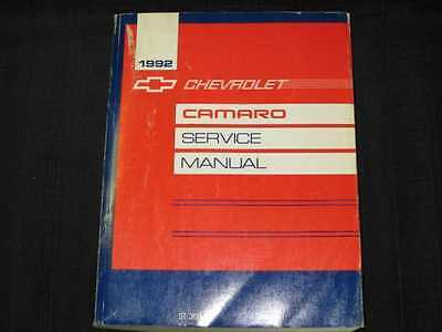 1992 Chevrolet Camaro Chassis/Body Shop Manual