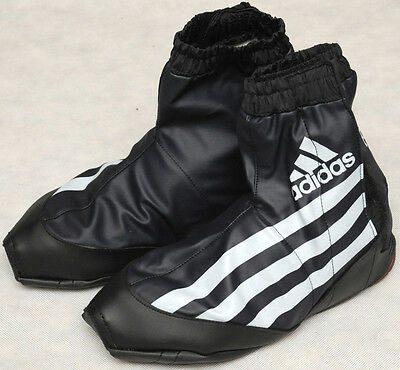 ADIDAS 3 STRIPES - vintage cycling WATERPROOF SHOE COVERS OVERSHOES size 9 - 9.5