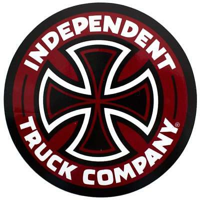 Independent Truck Co Cross Stickers - Burgundy