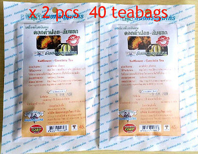 40-Tea Bags Garcinia Cambogia+Safflower Herbal Diet Slimming Weight Loss Detox