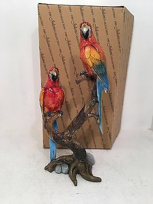 2 Parrots on Branches Juliana Figurine Ornament *BRAND NEW BOXED*