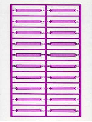 240 Hit Oldy Purple Pre-Perforated Blank Jukebox Title Strips - No Reserve