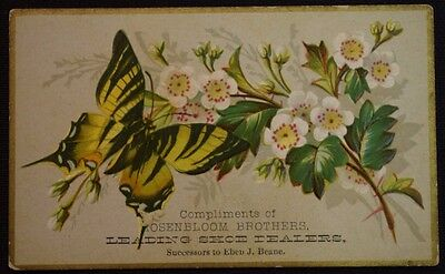 Antique Rosenbloom Brothers Shoe Dealers Syracuse NY Trade Card