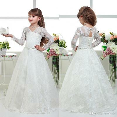 2016 New Flower Girl Dress Bridesmaid Wedding Communion Pageant Easte Party Gown