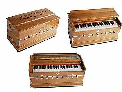 BestQualiy Harmonium Professional Grade 3.25Octave 9 Stop 4 Drone Bass/Male 440