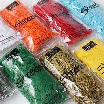 Shredded Tissue Paper - Acid Free – 25G Bags - Various Colours Plus Free P&p!