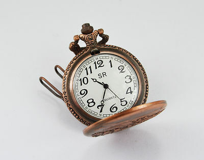 Handmade Vintage Replica Horse Car Designed Pocket Watch with long chain