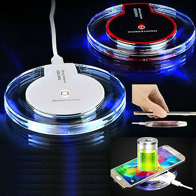 New Qi Wireless Charger Charging Pad For Samsung Galaxy Iphone 5 5S SE 6 6 plus