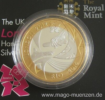 United Kingdom 2 Pounds 2012 Olympics London Handover to Rio Silver Proof