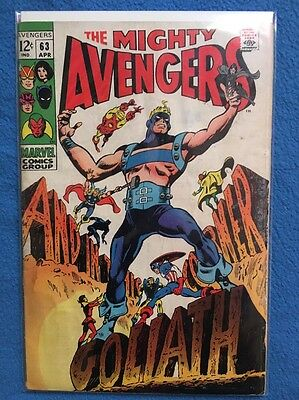 The Mighty AVENGERS  #6 / Original ENGLISH MARVEL / GD 3.0 / 1969