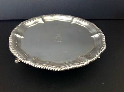 Ebenezer Coker Georgian Antique English Sterling Silver Salver London 1762