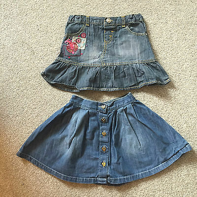 2 Girls Denim Skirts 1 X Next 1 X Autograph At M&s Age 3-4 Years