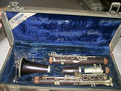 Clarinet  Paris,France Fontaine serial # 1564 Wood as found