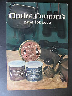 Charles Fairmorn's Pipe Tobacco Counter  Display Sign