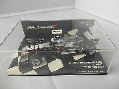 Minichamps Mclaren Mercedes Mp4/20 A Wurz 2005 Test 1/43 Scale Diecast F1 Model