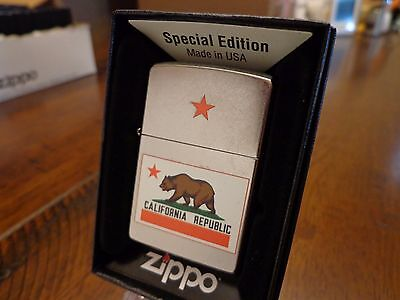 California State Flag Bear Zippo Lighter Mint In Box
