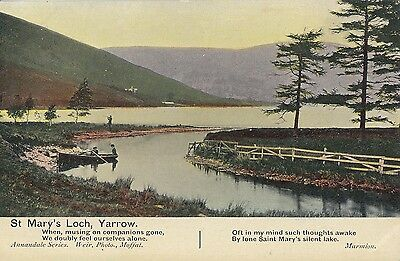 BY93.Vintage Postcard.St. Mary's Loch, Yarrow. Selkirkshire