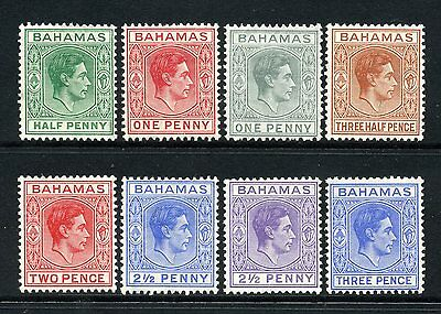 Bahamas 1938 KGVI p/set (8v.) mint