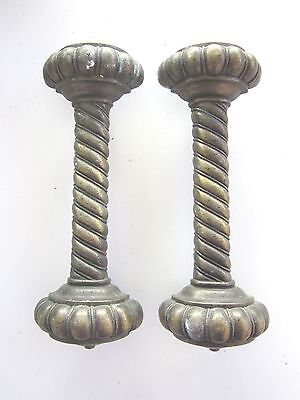 vintage  brass Ornate  Pair  of    Door  Handles  #2  set