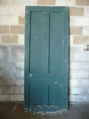 Antique Four Panel Beadboard Barn Door - Circa 1895 Architectural Salvage