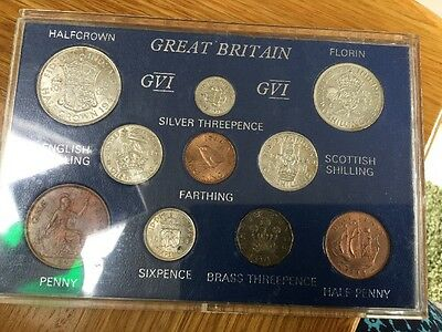 1944 George VI 10-Coin Type Year Set