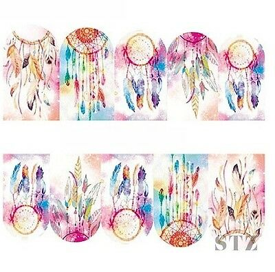 Nail Art Sticker Water Decals Transfer Watercolour Dreamcatchers (BN304)