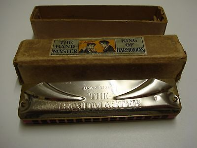 Vintage 'the Bandmaster' Harmonica With Box, Made In Germany