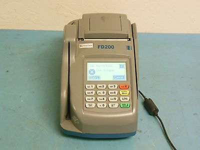First Data FD200 Credit Card Terminal & Check Reader w/ Power Supply