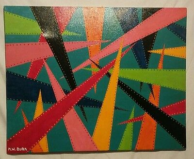 "Original signed abstract art . ""Pointless?"""