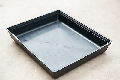 Garden Black Plastic Rectangle Plant Seedling Propagation Photo Hydro Tray