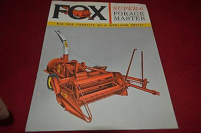 Fox River Tractor Super 6  Forage Harvester Dealer's Brochure YABE10