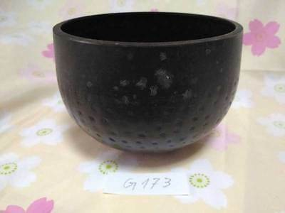 "4.941"" Japanese Vintage Buddhist Copper Bell Hand-pounded Forged G173"